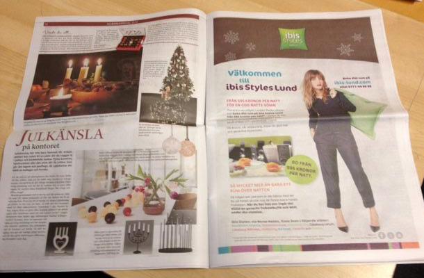 Annons för ibis Styles Lund