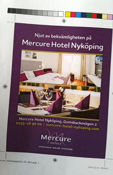 Annons för Mercure Hotels Nykoping