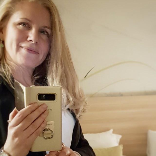 Jag och min Samsung Galaxy Note 8.