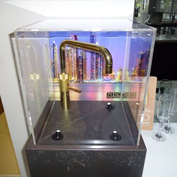 Close up of Quooker Golden tap