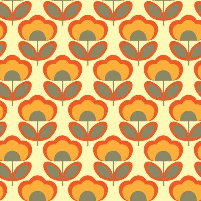 Floral Retro 70s Wallpaper Free Stock Photo - Public Domain Pictures