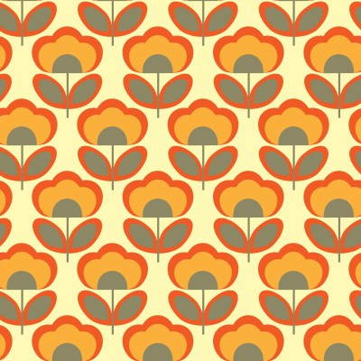Floral Retro 70s Wallpaper Free Stock Photo - Public Domain Pictures