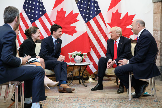 Trudeau-Freeland-and-Trump-e1497280335385