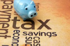 25160033 - piggy bank and tax concept