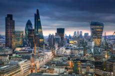 42842610 - london, uk - january 27, 2015: panoramic view city of london