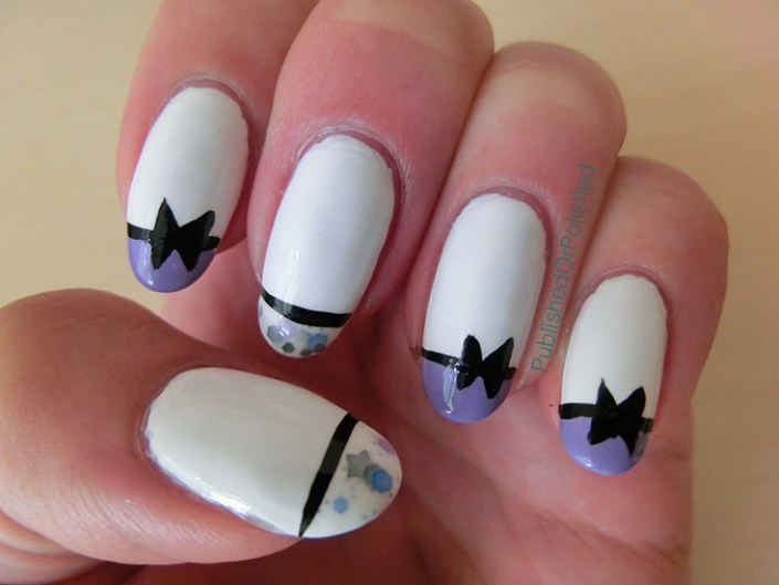 French Mani with Bow