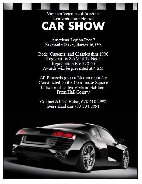 Car Show Flyers Templates Car Show Flyer Template