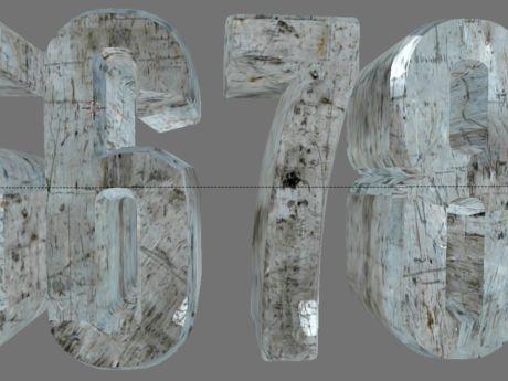 Screenshot de Blender de tipodrafía 3d