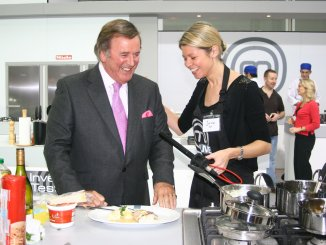 Sir Terry Wogan in 2009 on the set of Masterchef