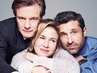 Bridget Jones with Mark Darcy (left) and Jack Qwant (right)