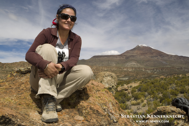 Cintia Tellaeche in the high Andes of Argentina
