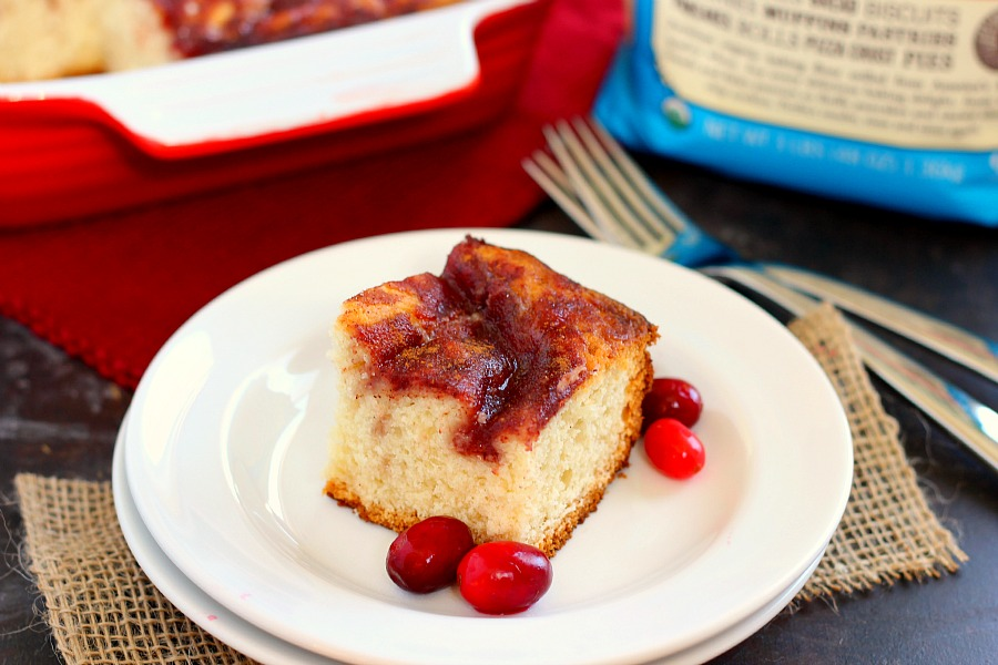 This Cranberry Swirl Coffee Cake is fluffy, moist, and swirled with ...