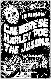 Horror Punk Night: CALABRESE, Harley Poe, The Jasons @ The Melody Inn | Indianapolis | Indiana | United States