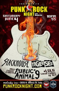Stackhouse, Tiger Sex, Alice Cooper tribute + LOLA @ The Melody Inn |  |  |
