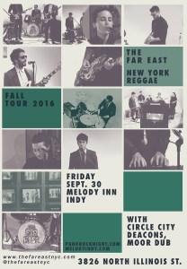 Reggae/Ska show: Far East, Circle City Deacons, Moor Dub @ The Melody Inn | Indianapolis | Indiana | United States