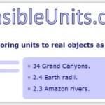 SensibleUnits, equivalencias de longitudes en objetos reales