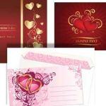 Vectores de tarjetas para San Valentín