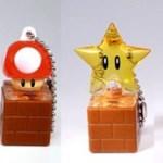 Llaveros con los bichos de Super Mario