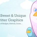 Set de 40 badges, botones e íconos de Twitter