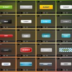 Botones en formato PSD gratis