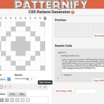 Patternify, generador de patterns online
