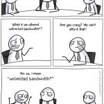 Ancho de banda ilimitado [Humor]