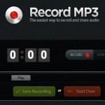 Record mp3: Grabar audio desde el navegador y compartirlo online
