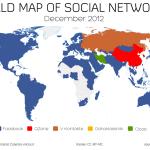 Mapa mundial de las redes sociales