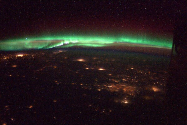 Aurora sobre USA y Canada