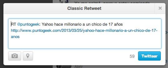 Twitter Classic rt