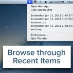 Tomar capturas de pantalla y compatirlas al instante con Thunder [Mac]