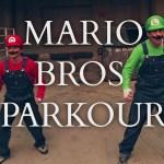 Mario y Luigi haciendo parkour [Vídeo]