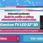#AlentáConSimón y ganate un TV LED 3D