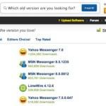OldVersion: Base de datos con versiones antiguas de software