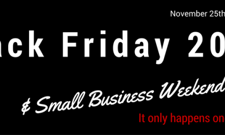 2016 Black Friday & Small Business Weekend Deals