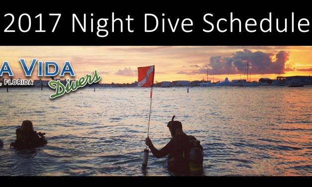 2017 Blue Heron Bridge Night Dive Schedule