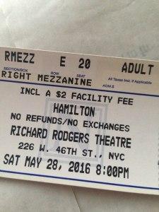 Hamilton ticket