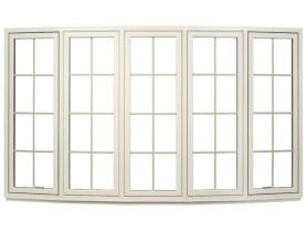 tan bow window