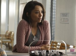 """The Vampire Diaries -- """"One Way or Another"""" -- Image Number: VD718a_0076.jpg -- Pictured: Kat Graham as Bonnie -- Photo: Annette Brown/The CW -- © 2016 The CW Network, LLC. All rights reserved."""