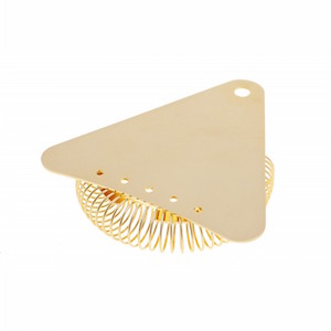 Triangle Cocktail Strainer Gold