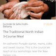 Traditional 3 course Indian meal Pure Punjabi e-learning cookery course