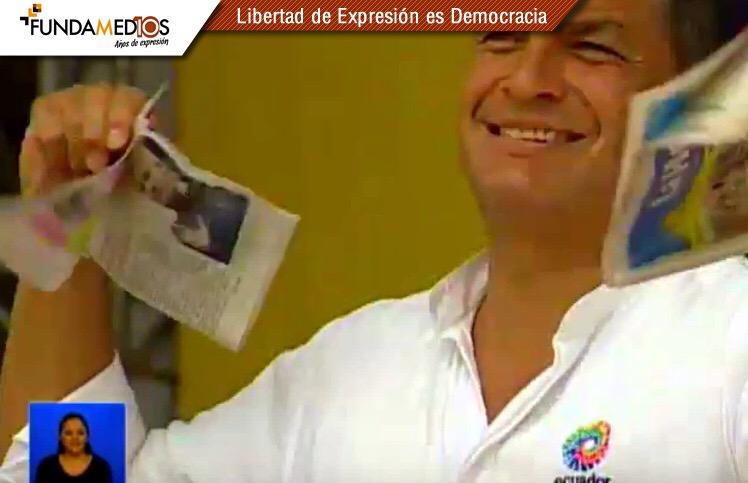 Presidente Rafael Correa Ecuador. Foto fundamedios.org