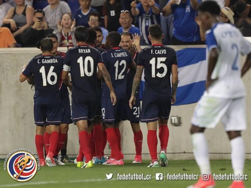 Costa Rica vence a Honduras Copa de Oro 2017. Foto fedefutbol.com