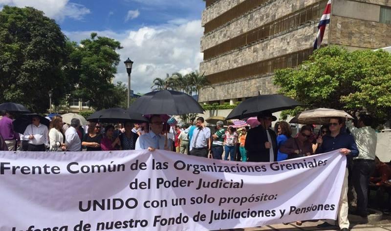 Huelga Poder Judicial Costa Rica Foto Facebook