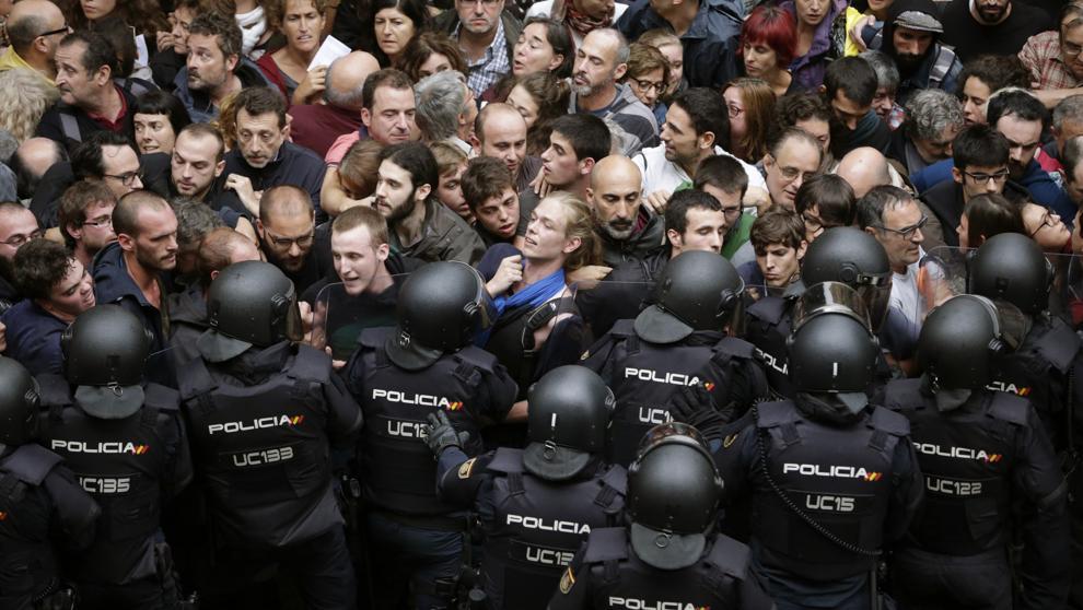Barcelona protestas. Foto lavanguardia.com