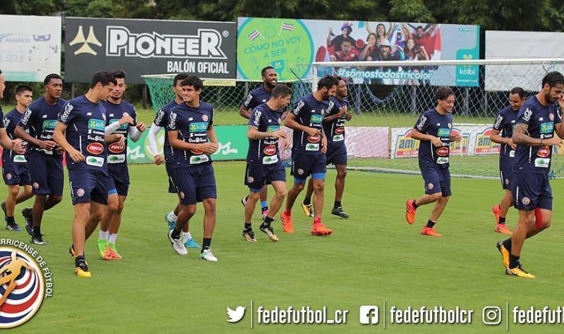 Seleccion Costa Rica entrenamiento . Foto fedefutbol.com.