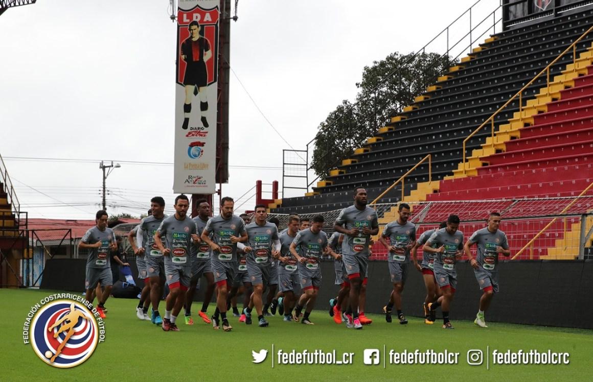 Seleccion Costa Rica entrenamiento estadio Alejandro Morera. Foto fedefutbol.com