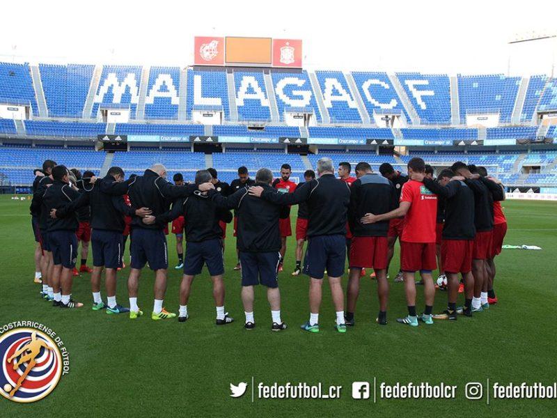 Selección Costa Rica Málaga España, Foto Twitter fedefutbol.com.jpg