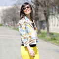 Yellow: Petals jacket & lemon pants