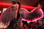 NEW YORK, NY - APRIL 22:  Karen O of the Yeah Yeah Yeahs performs in concert at SHOT! The Psycho-Spiritual Mantra of Rock After Party during the 2016 Tribeca Film Festival at The Gallery at Dream Downtown on April 22, 2016 in New York City.  (Photo by Rob Kim/Getty Images for Tribeca Film Festival)
